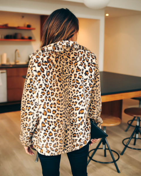 Spice It Up Pocketed Faux Fur Jacket