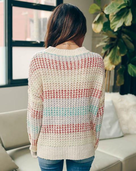 Make You Mine Striped Knit Sweater - FINAL SALE