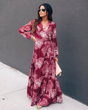 Patient And Kind Printed Ruffle Wrap Maxi Dress - FINAL SALE