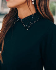 Itzel Collared Embellished Sweater