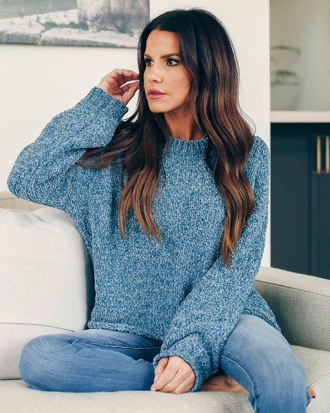 Zoned Out Cropped Chenille Sweater   - FINAL SALE