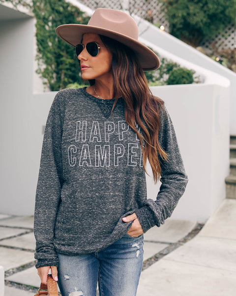 Happy Camper French Terry Pullover - FINAL SALE