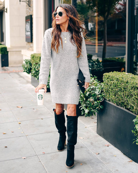 Bag Of Tricks Embellished Sweater Dress