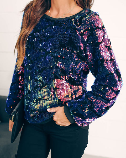 Making A List, Checking It Twice Sequin Pullover - FINAL SALE