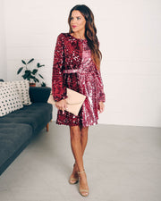 Set Your Sights Sequin Two-Tone Dress  - FINAL SALE view 3