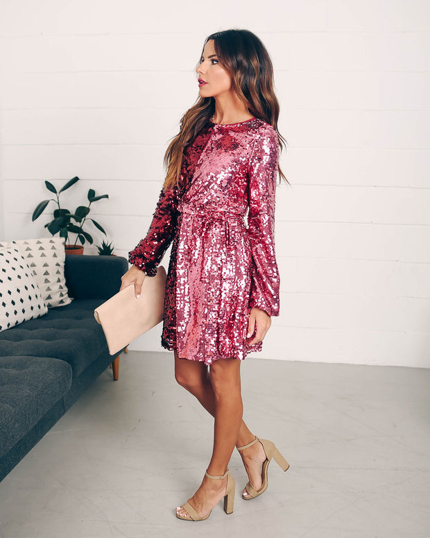 Set Your Sights Sequin Two-Tone Dress  - FINAL SALE view 6