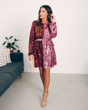 Set Your Sights Sequin Two-Tone Dress  - FINAL SALE view 7