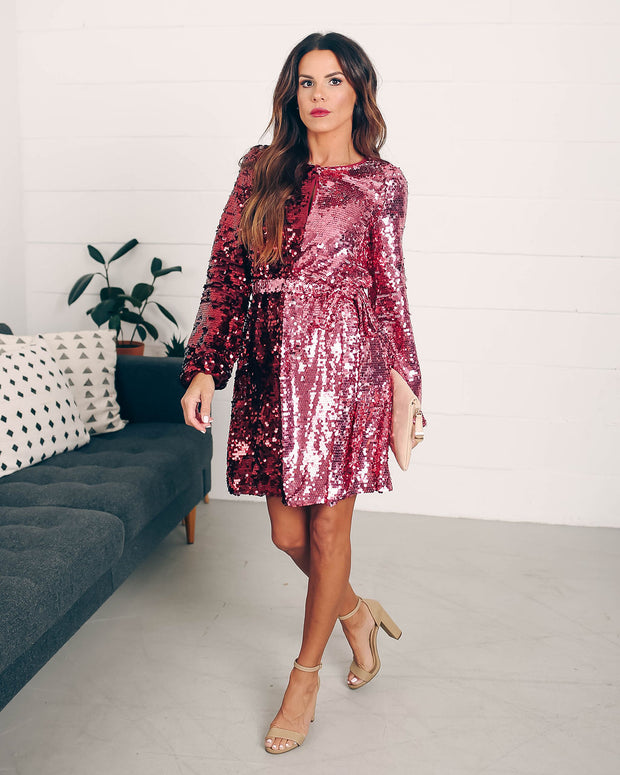 Set Your Sights Sequin Two-Tone Dress  - FINAL SALE view 8