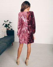Set Your Sights Sequin Two-Tone Dress  - FINAL SALE view 10