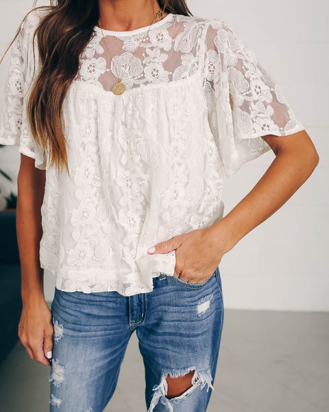 Bellatrix Lace Babydoll Blouse - FINAL SALE