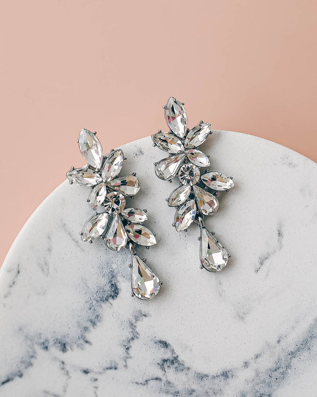 Olive + Piper – Valentina Crystal Statement Earrings