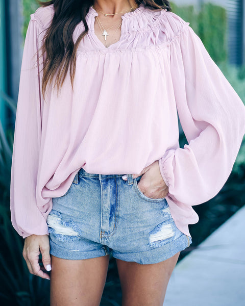 Love Is In The Air Ruffle Blouse