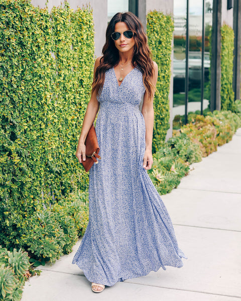 Blue Jay Printed Maxi Dress