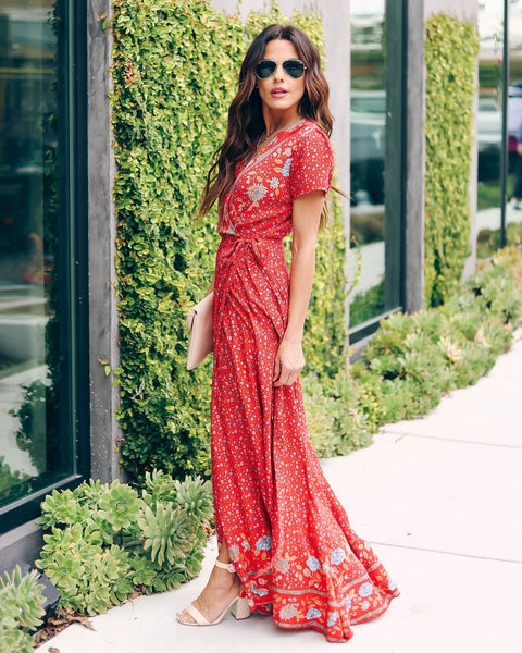Huntley Floral Wrap Maxi Dress
