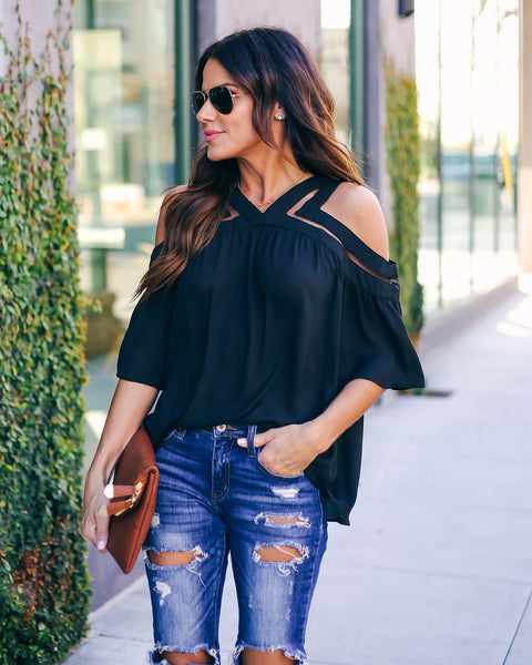 Roxanne Cold Shoulder Blouse
