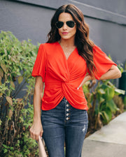 Can't Get Enough Short Sleeve Twist Blouse  - FINAL SALE view 4