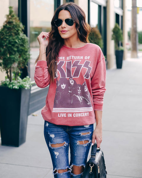 Graphic Return Of Kiss Pullover