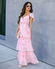 Lost In Thought Floral Tiered Maxi Dress - FINAL SALE