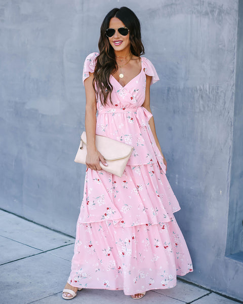Lost In Thought Floral Tiered Maxi Dress