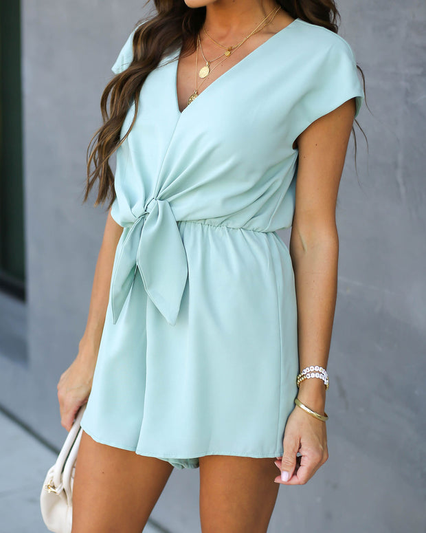 Why Knot Romper - Mint