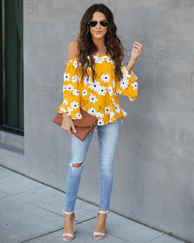 Sweet Intentions Floral Off The Shoulder Top