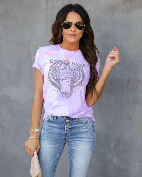 PREORDER - Groove It Cotton Blend Tie Dye Tiger Tee