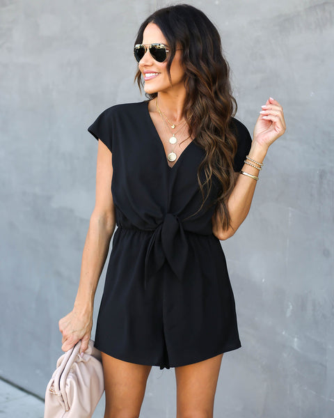 Why Knot Romper - Black
