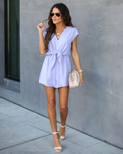 Why Knot Romper - Lilac