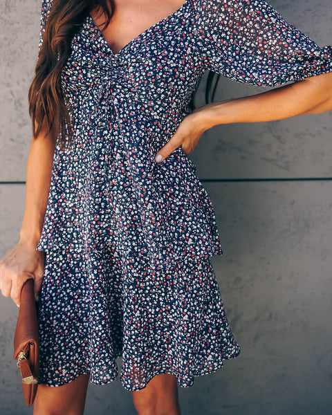 Still Life Floral Ruffle Dress