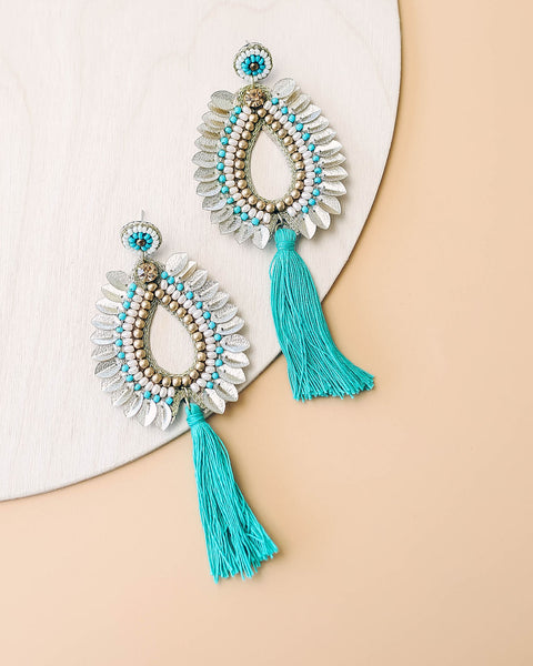Athenian Beaded Tassel Earrings