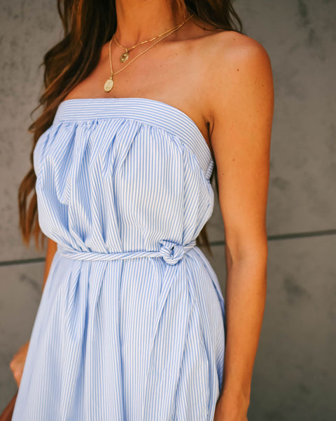 Lana Strapless Striped Tie Maxi Dress - FINAL SALE