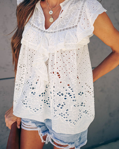 I've Got Soul Ruffle Eyelet Top - FINAL SALE