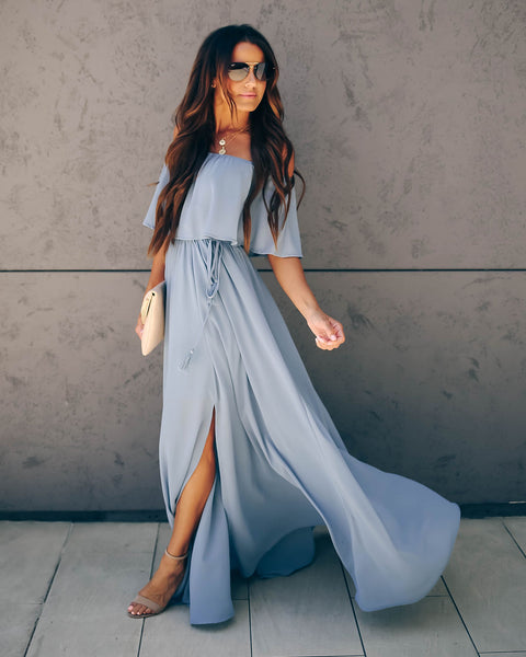 0284e2b9b2 Hozier Off The Shoulder Maxi Dress