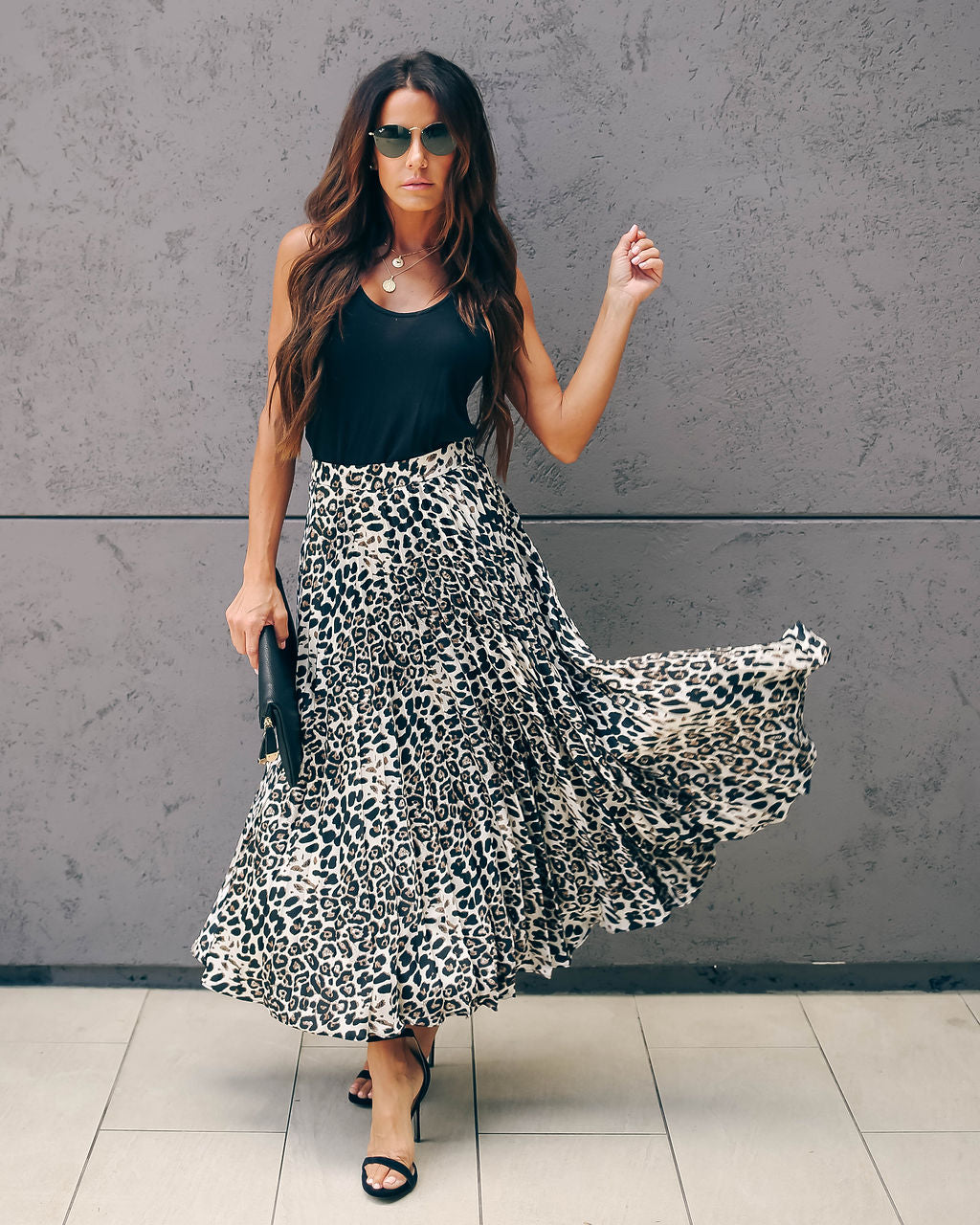 f35800dcb3 Detail Product. FILTER ← Home - BOTTOMS - Dash Pleated Leopard Midi Skirt