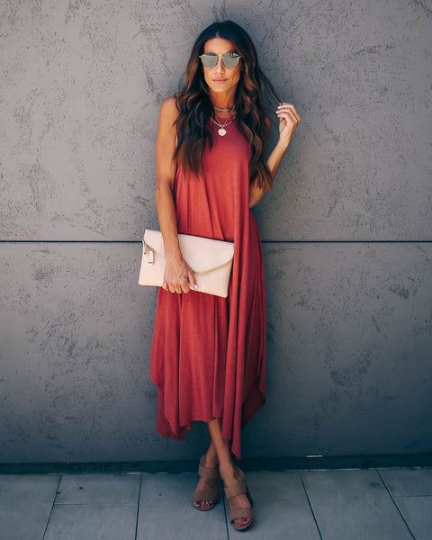 Nashville Cotton + Modal Midi Tank Dress - Sienna