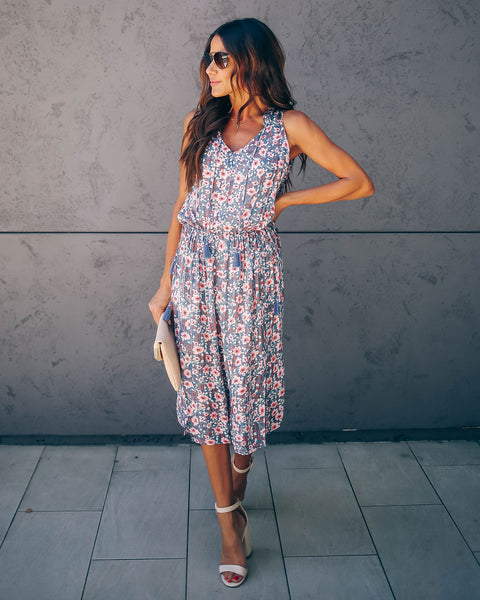 Almost Lover Floral Tassel Midi Dress