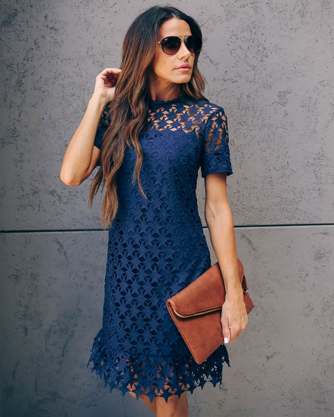 For The Stars Crochet Overlay Dress - FINAL SALE