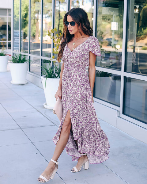 Fight This Feeling Button Down Smocked Maxi Dress - FINAL SALE