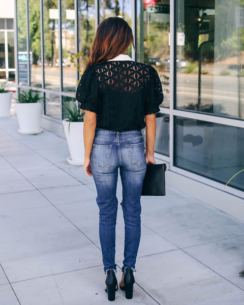 Glimpse Of Glam Lace Statement Blouse - FINAL SALE
