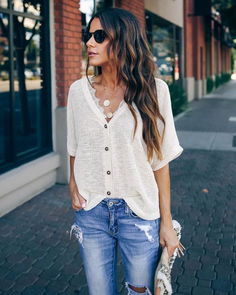 Kennedy Lace Detailed Knit Top