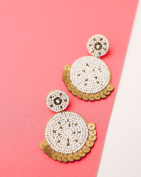 Isadore Beaded Sequin Earrings