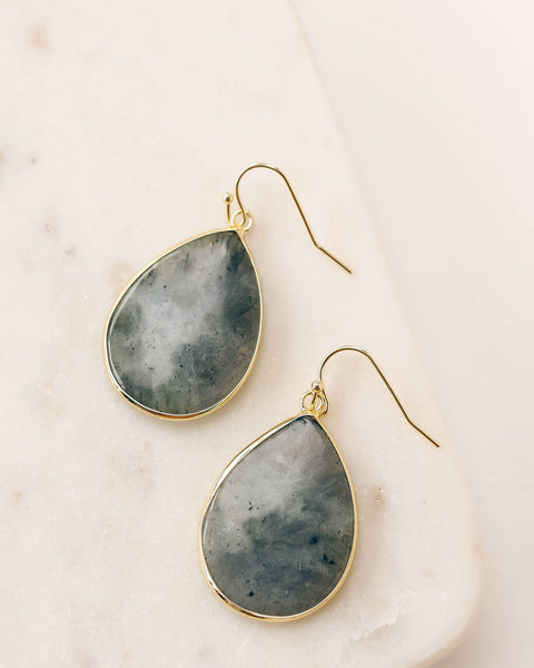 Lighthearted Teardrop Earrings - Charcoal