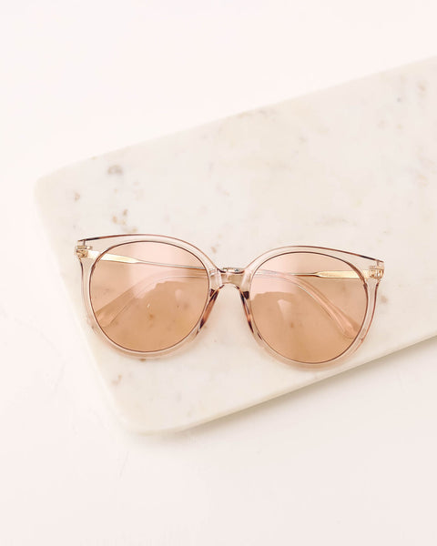 Let Me Upgrade Sunglasses - Clear Persimmon