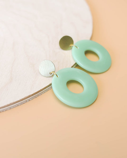 Jaded Circular Statement Earrings