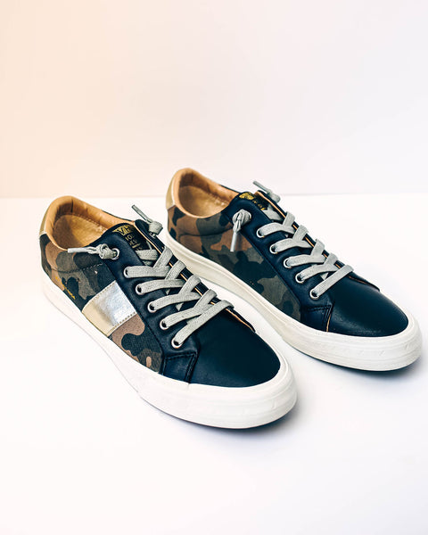 PREORDER - Summit Faux Leather Camo Sneakers