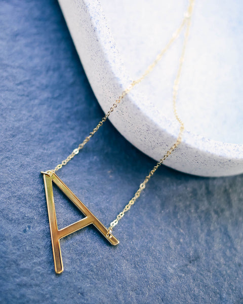 Meghan Bo Designs - Gold Initial Necklace - FINAL SALE