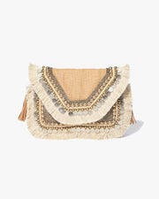 PREORDER - SHASHI - Leela Clutch - Natural view 1