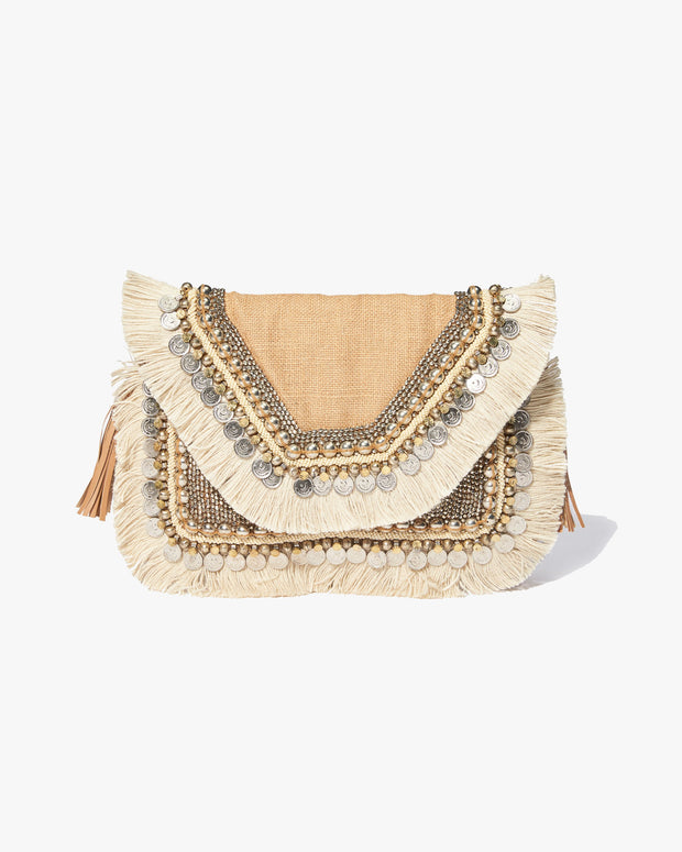 PREORDER - SHASHI - Leela Clutch - Natural view 3