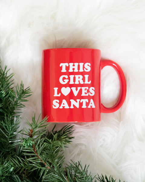 This Girl Loves Santa Mug - FINAL SALE
