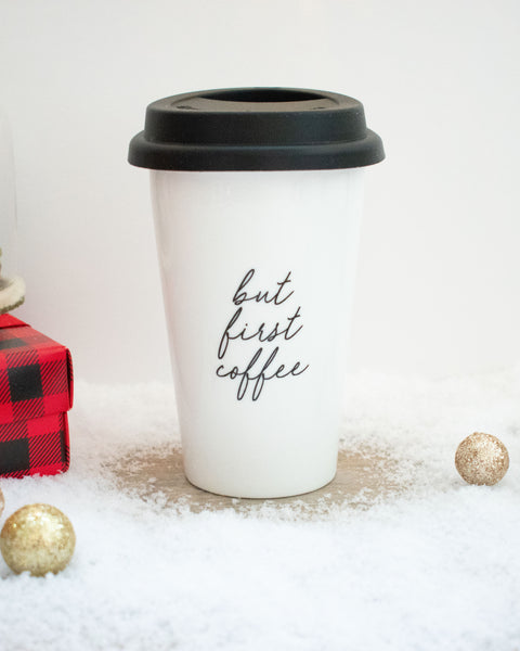 But First Coffee Tumbler - FINAL SALE